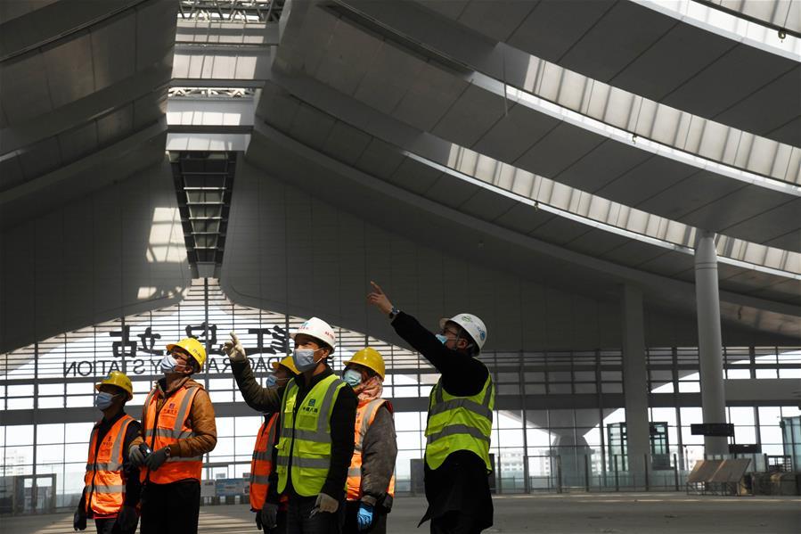 Qingdao speeds up construction work of Hongdao Railway Station