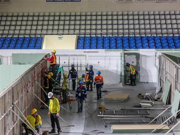 Coliseum converted into quarantine spot in Manila