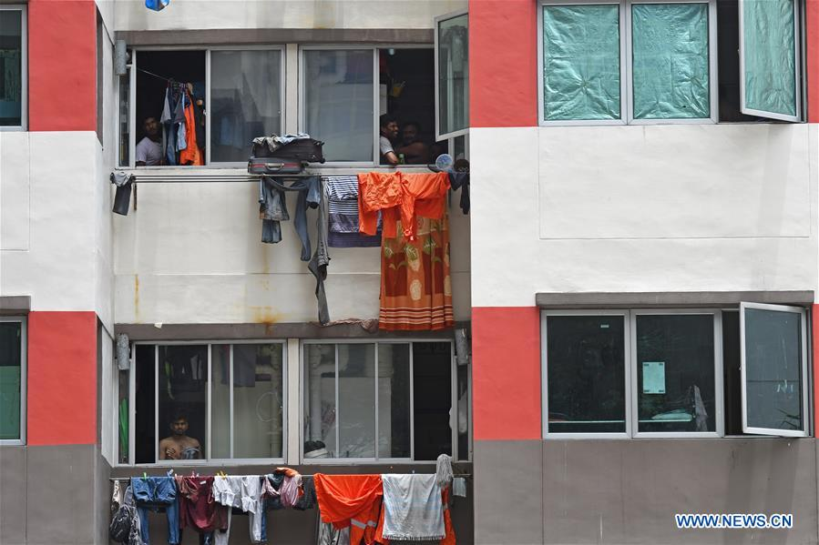 People's daily life in Westlite Toh Guan dormitory in Singapore