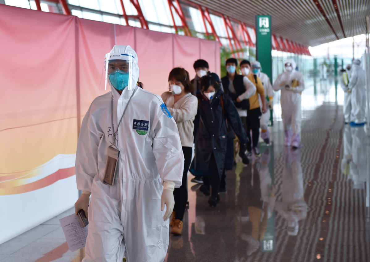 China tightens screenings over imported infections