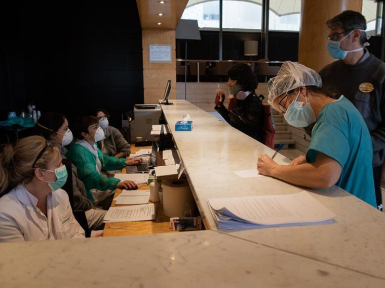 Hotel in Barcelona turned into temporary hospital for COVID-19 patients