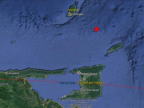 5.2-magnitude quake hits 69km NW of Scarborough, Trinidad and Tobago: USGS