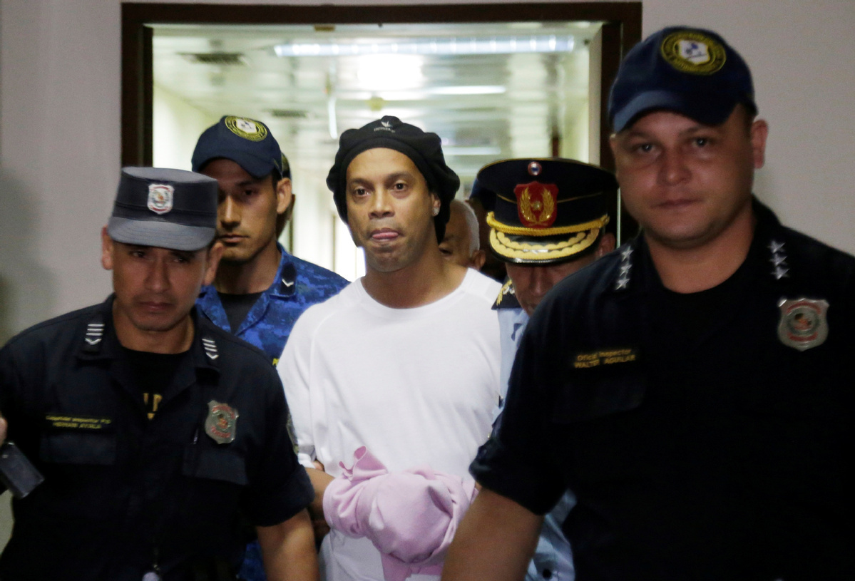 Ronaldinho released from Paraguayan prison on bail