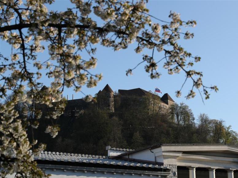 View of Ljubljana castle in Slovenia