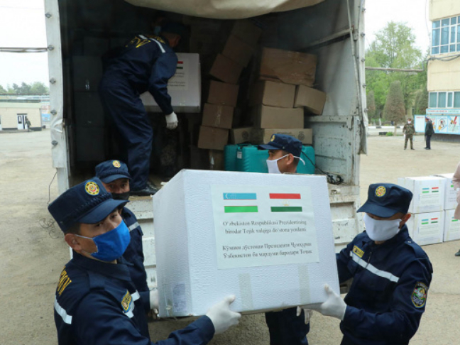 Uzbekistan donates medical supplies to Tajikistan to curb COVID-19 spread