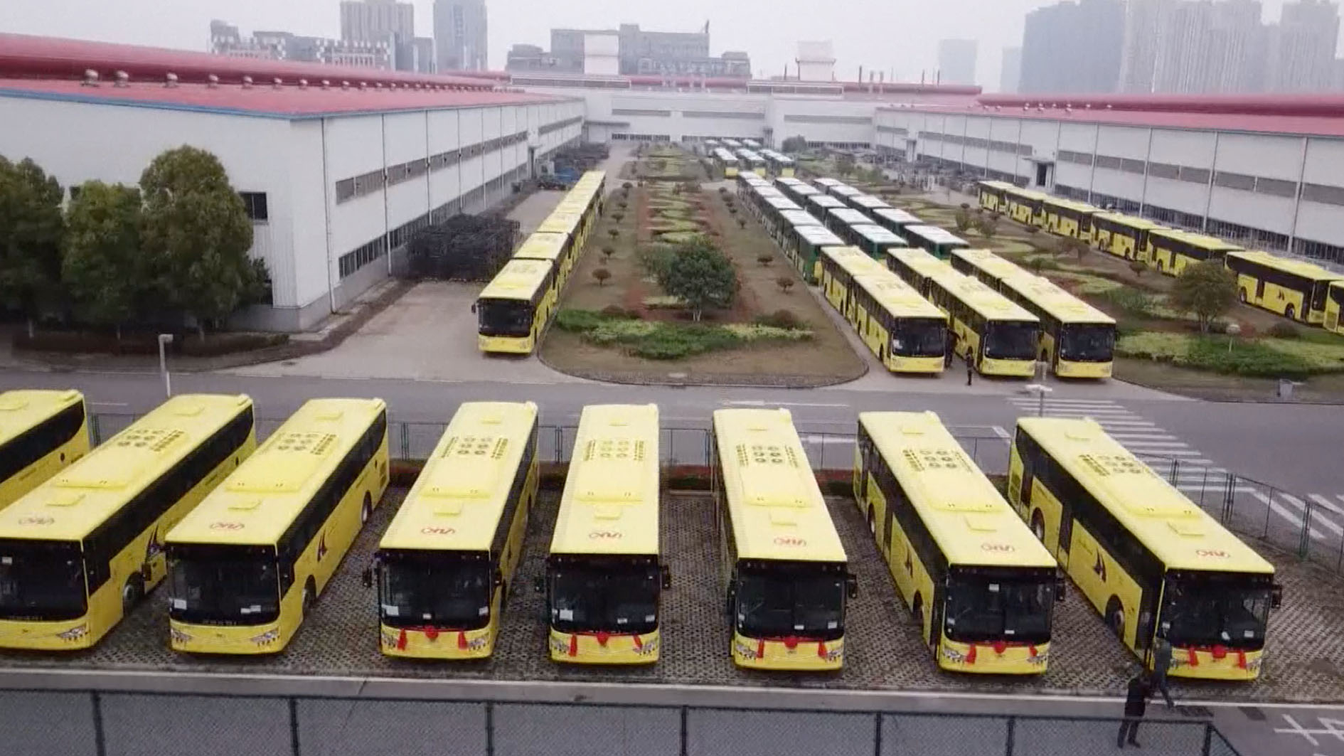 Chinese company exports 213 buses to Saudi Arabia