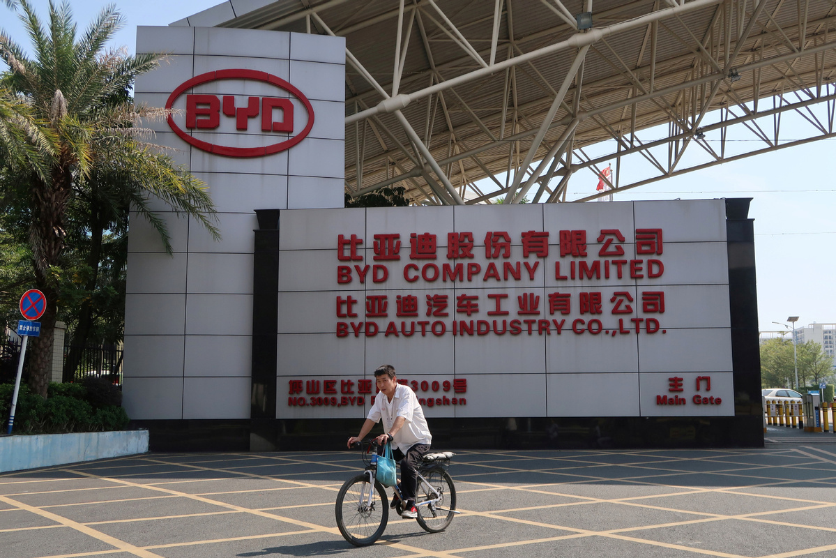 BYD's green car sales down 59% in March