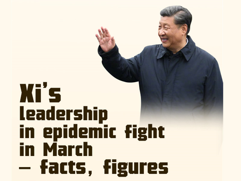 Facts and figures: President Xi's leadership in epidemic fight in March