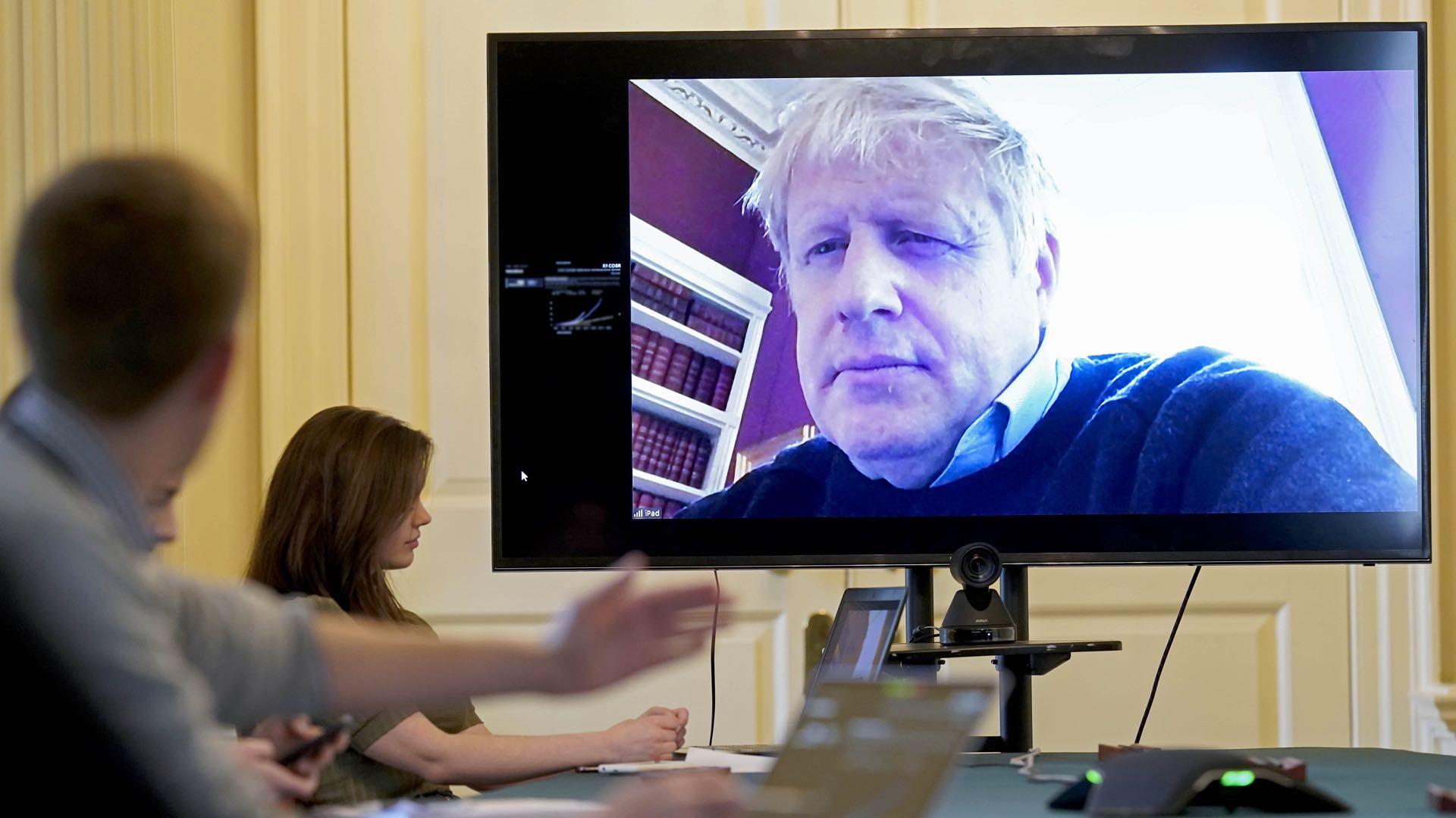 Boris Johnson back on hospital ward with UK in Easter lockdown