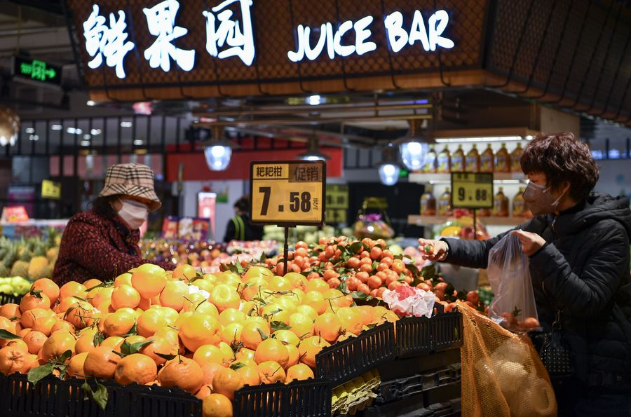 China's consumer inflation moderates to 4.3 pct