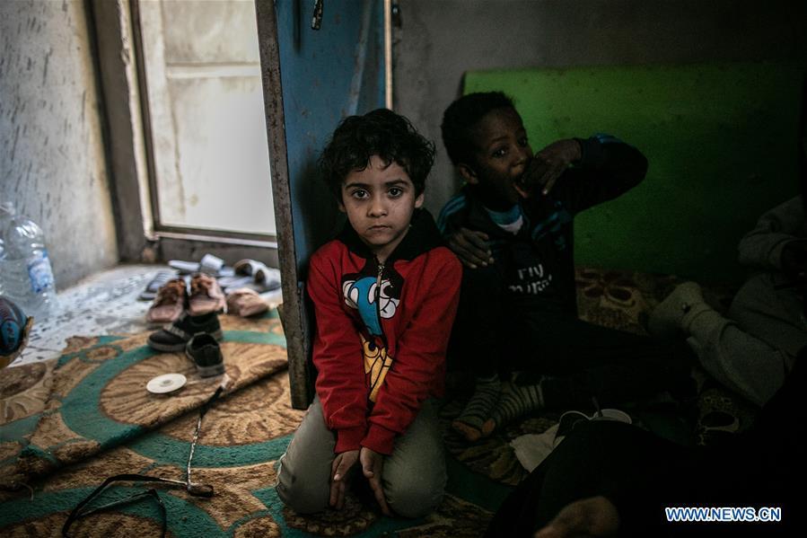 Displaced people in Tripoli, Libya