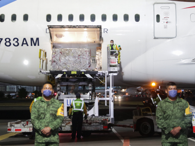 Mexico receives 2nd shipment of medical supplies from China