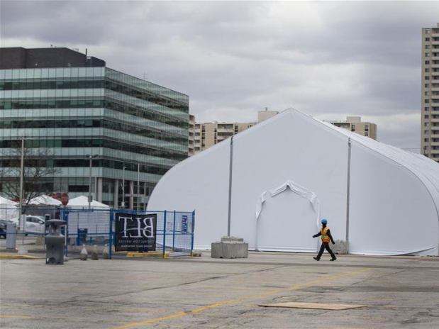 New modular structure under construction in Mississauga, Canada