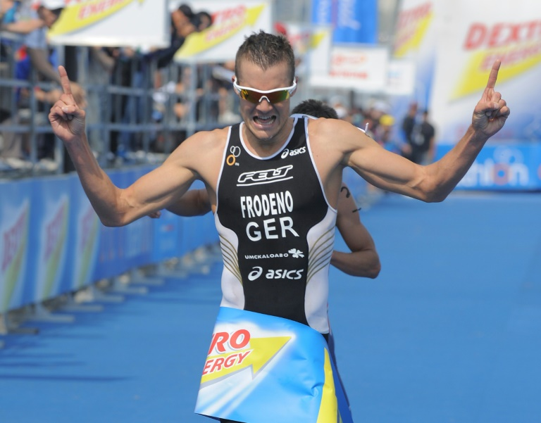 Former Olympic champion Frodeno completes charity triathlon indoors