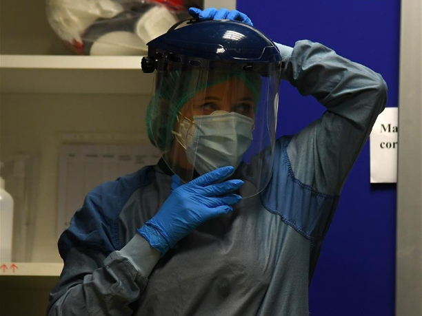 Frontline medical staff fight coronavirus in Rome