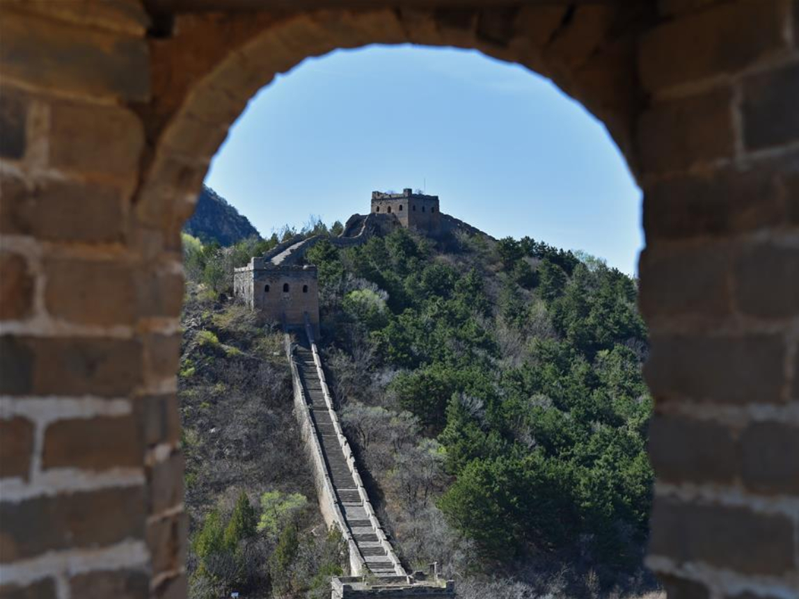 Spring scenery of Great Wall in Beijing