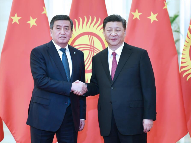 Xi says China to continue helping Kyrgyzstan fight COVID-19