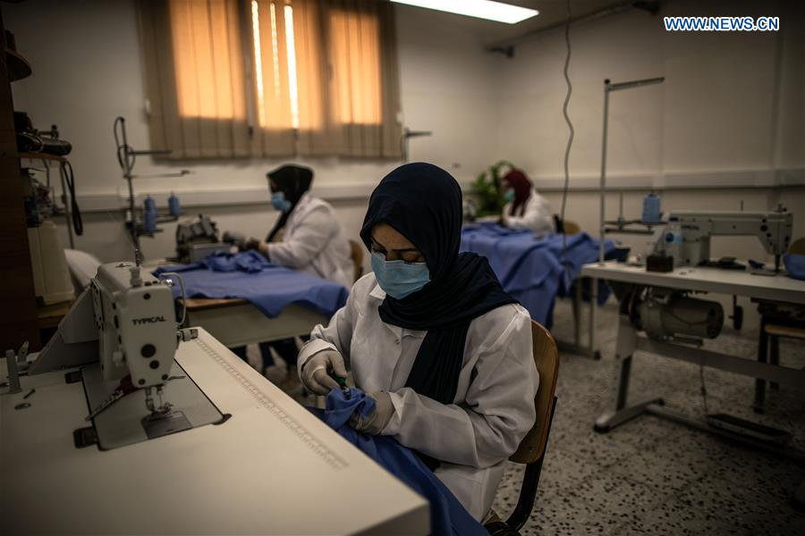 Fashion school turned into workshop to produce protective gears in Tripoli