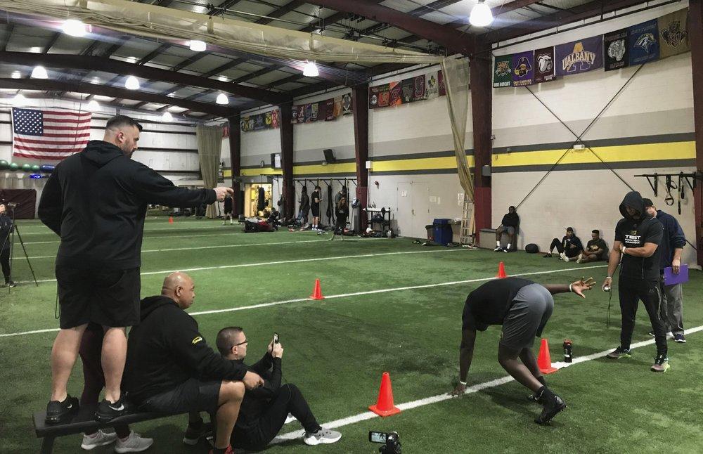 30 NFL draft hopefuls showed off skills at a virtual pro day