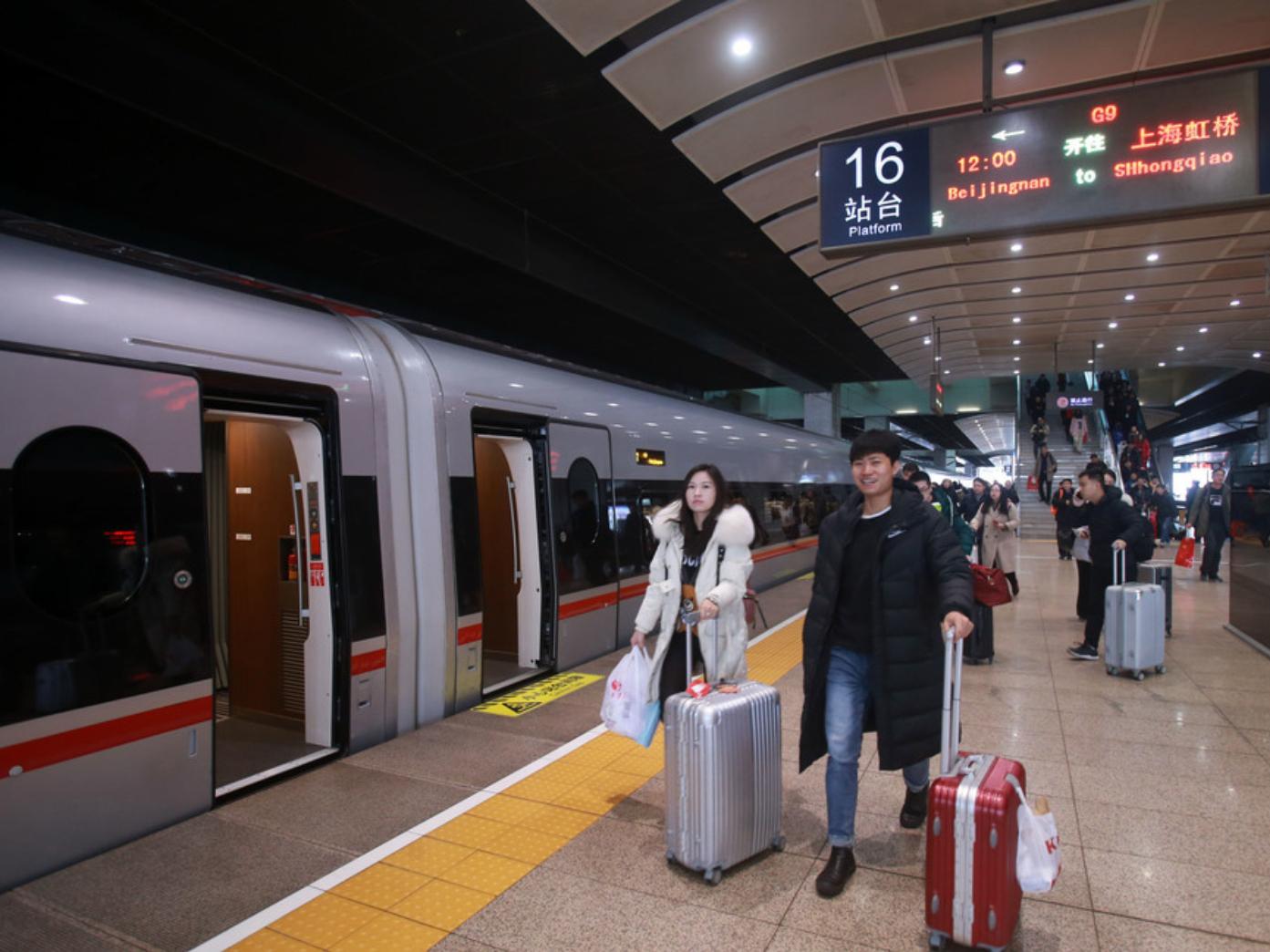Beijing-Shanghai high-speed rail firm sees growth in revenue, profit