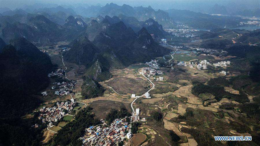 Full-coverage rural highway network connecting townships, administrative villages set up in Guangxi