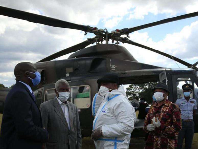 Zimbabwean vice president visits isolation center in Marondera