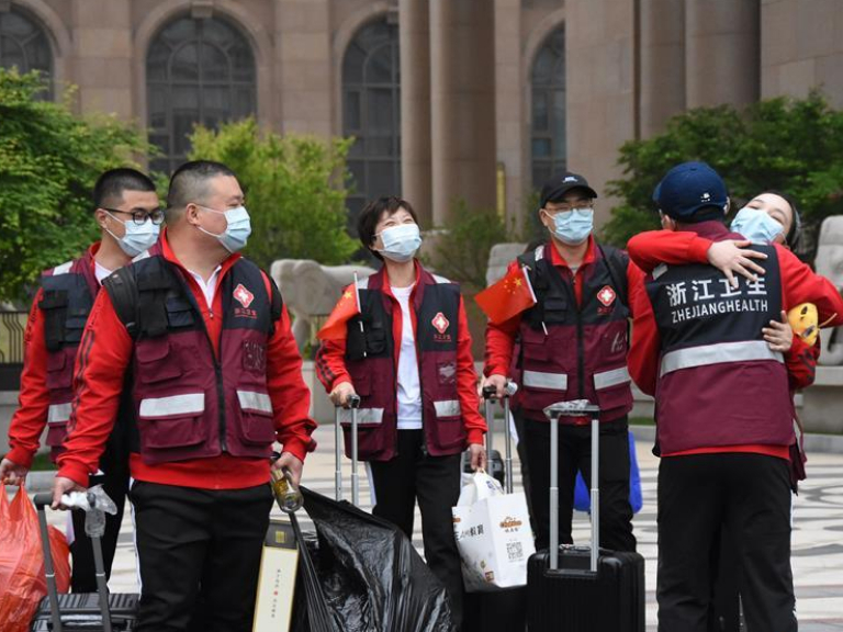 Last batch of medical workers from Zhejiang finish 14-day quarantine