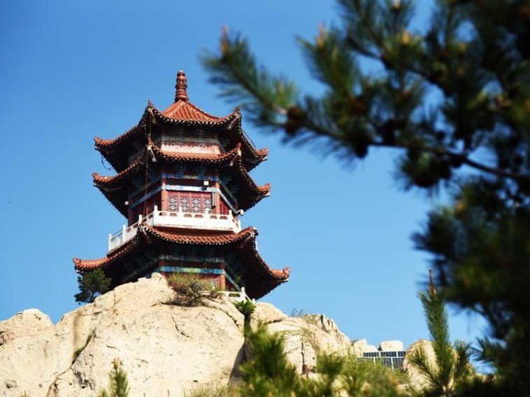 Scenery of Jiuxian Mountain in Shandong