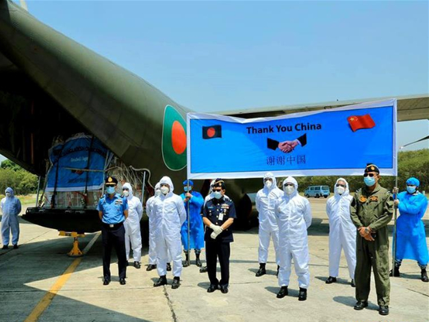 Bangladesh fetches COVID-19 preventive medical aids from China