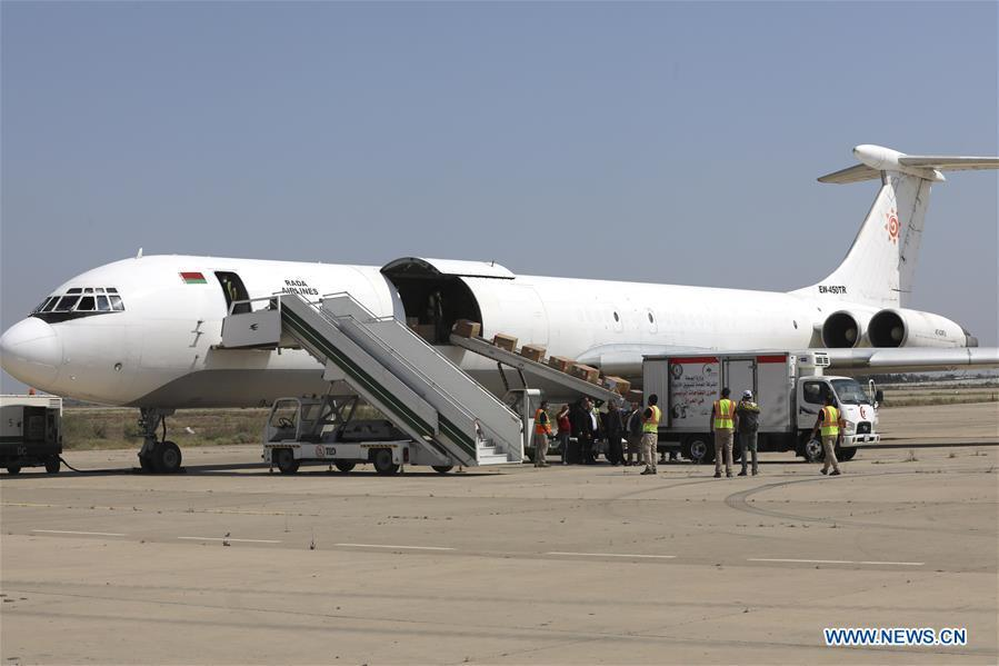 Third batch of Chinese aid arrives in Baghdad to assist COVID-19 fight