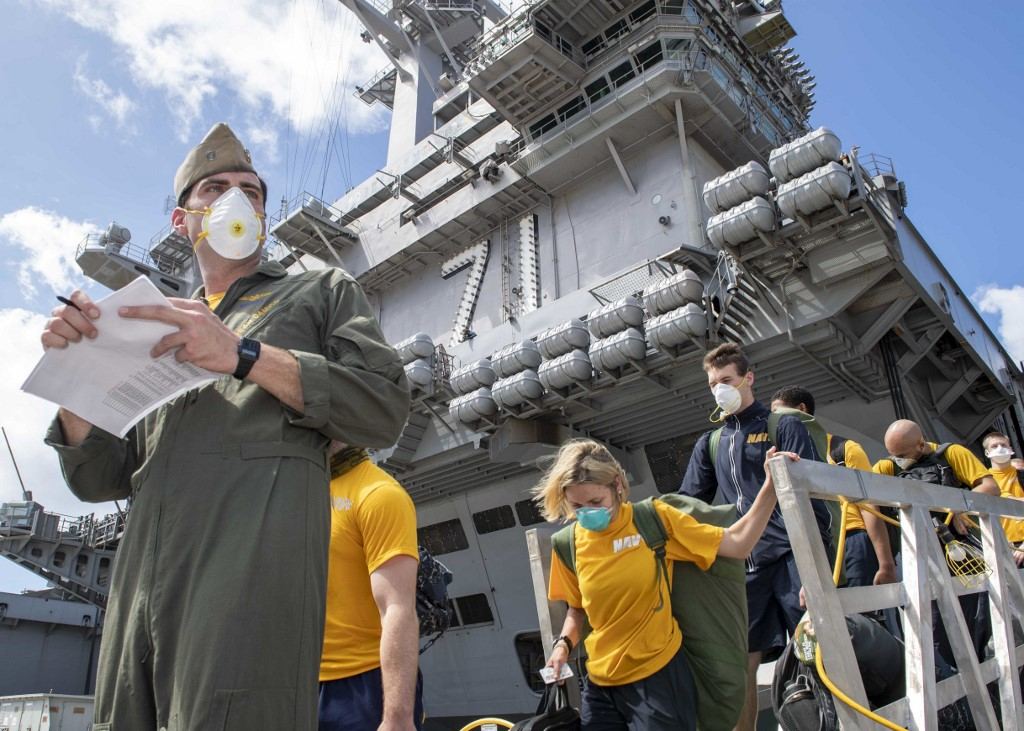 US Air Force builds facility in Guam to accommodate Roosevelt sailors with COVID-19