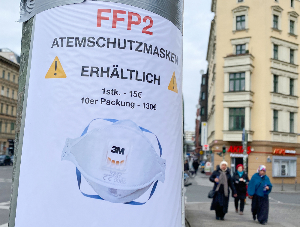 Masks made compulsory in most German states