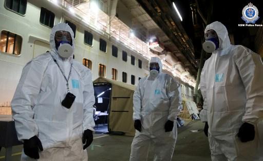 Virus-hit cruise ship to leave Australian waters