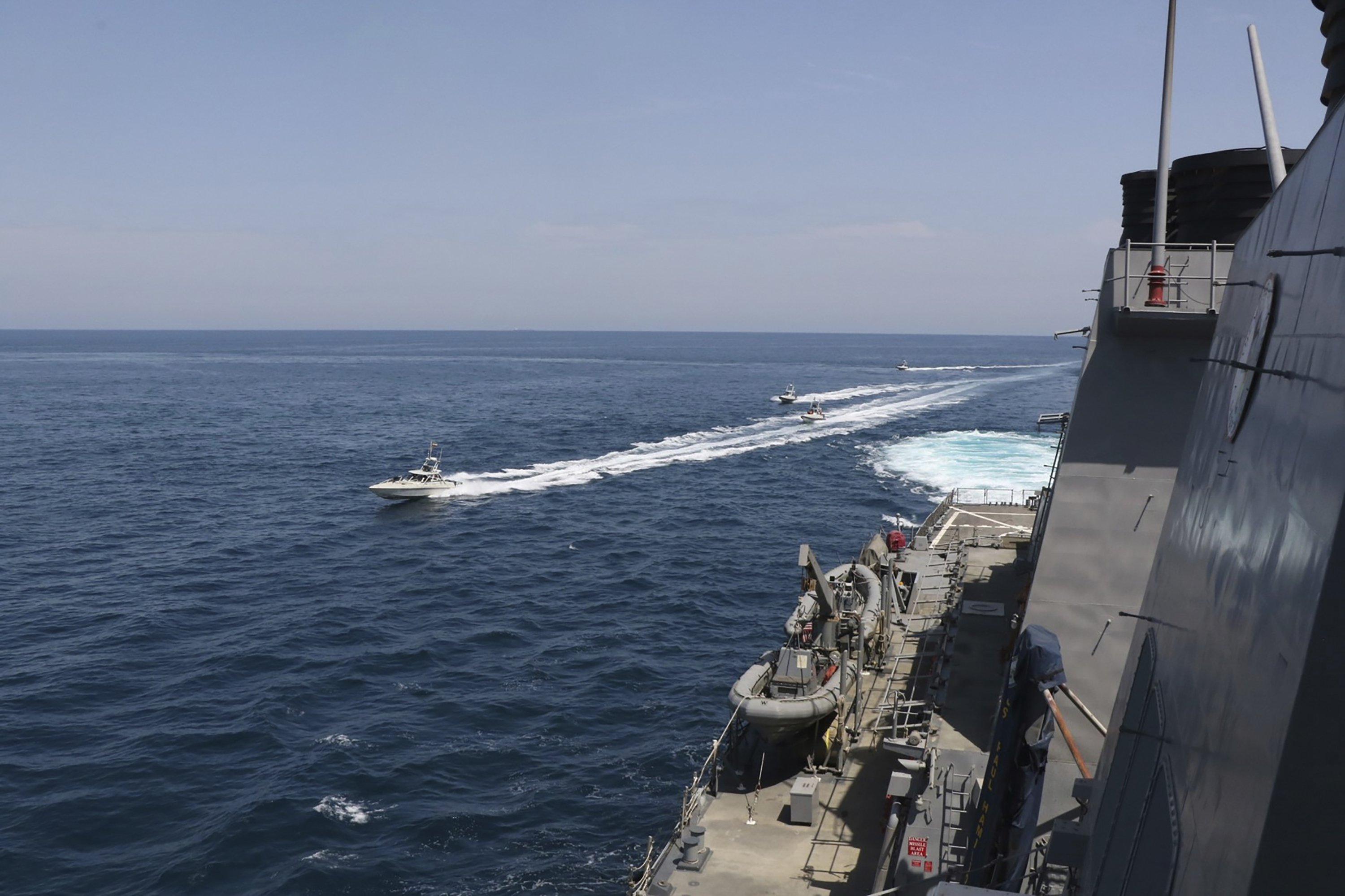 Trump instructs US Navy to destroy Iran gunboats if they harass US ships
