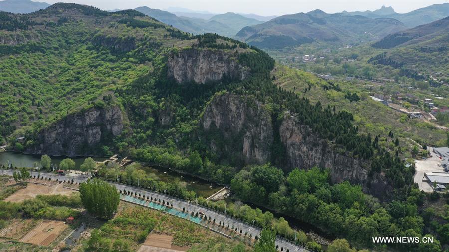 Scenery of mountainous area in south Jinan, Shandong