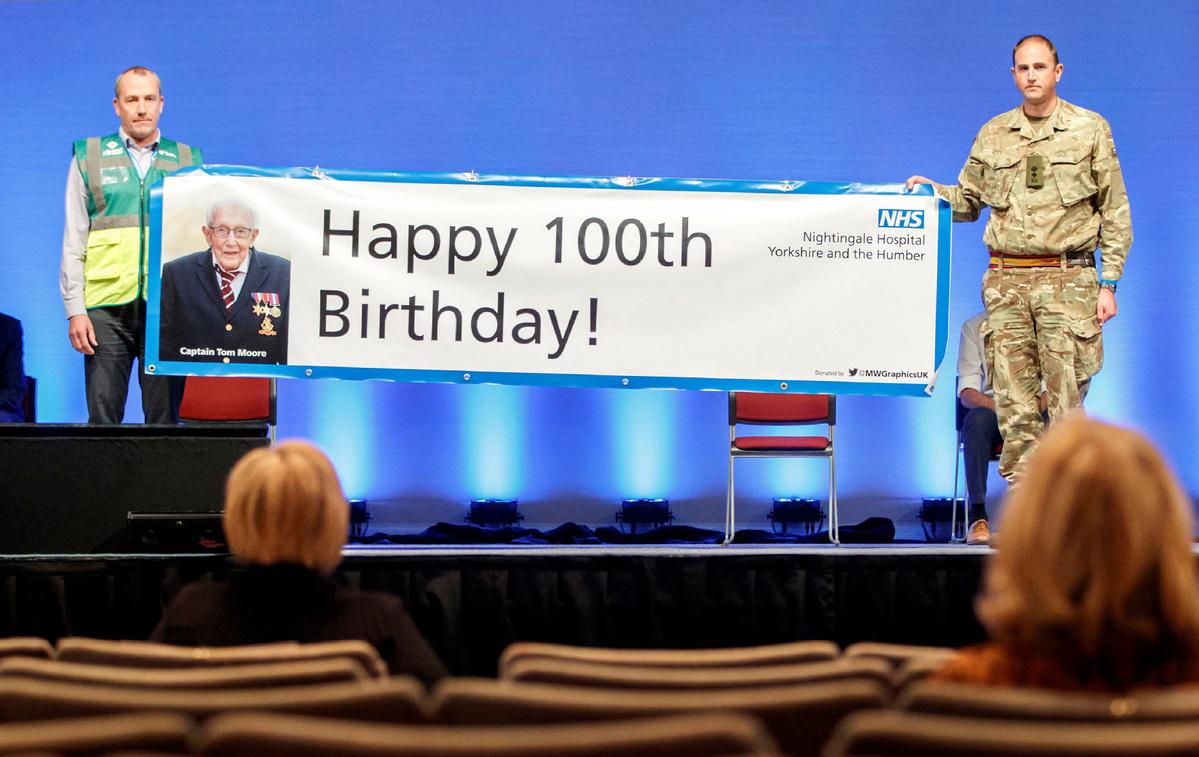 'Captain Tom', 99, raises more than $34 million for UK carers