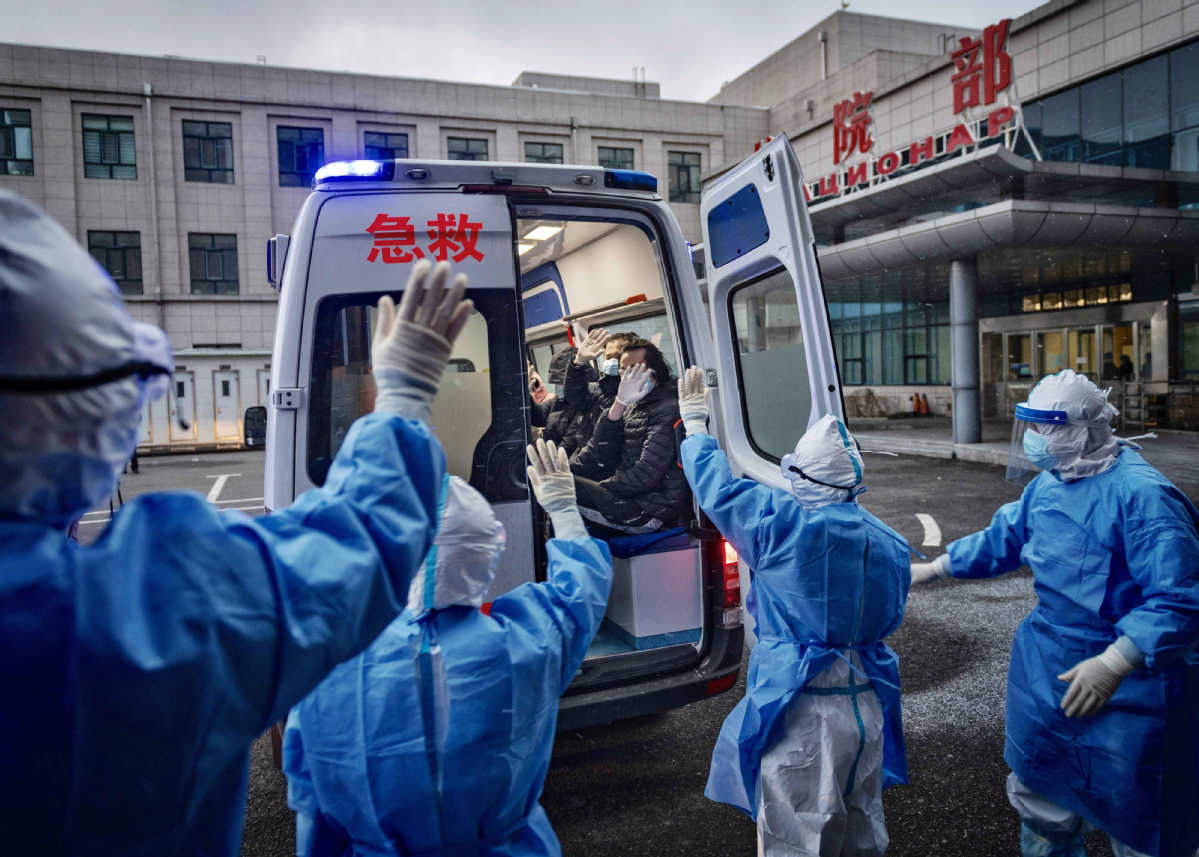 56 COVID-19 patients discharged from hospitals on Chinese mainland