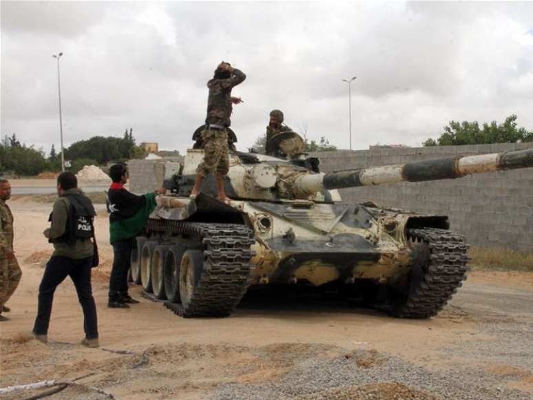 Fighters of UN-backed Government of National Accord seen in Tripoli, Libya