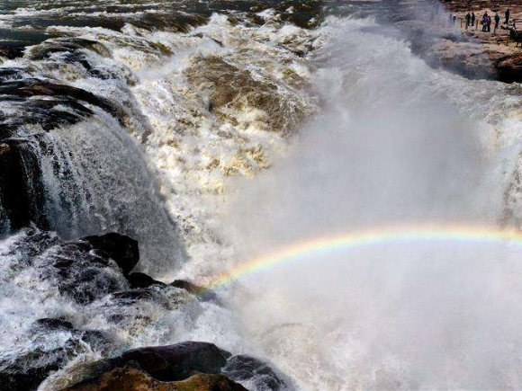 In pics: rainbow over Hukou Waterfall scenic spot
