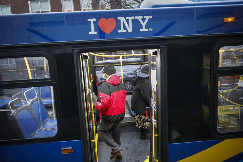 New York's virus death toll falls to lowest level in weeks