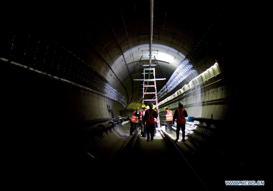 Subway line 4 in Zhengzhou under construction