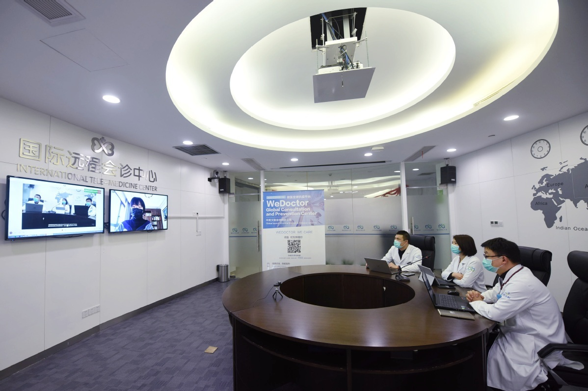 Chinese doctors share COVID-19 tips with foreign peers