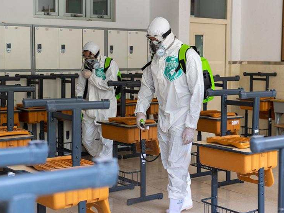 Campus disinfected to prepare for school openings
