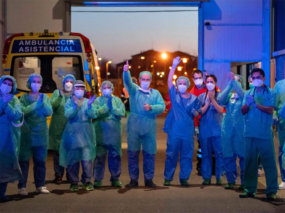 Spain's daily virus death toll drops to 288, lowest in a month