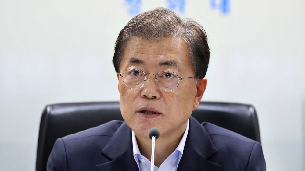 S. Korean president says to seek realistic, practical ways for cooperation with DPRK
