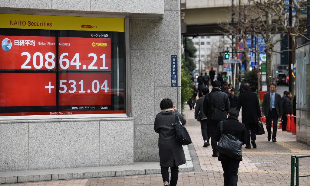 Tokyo's Nikkei closes up more than 2.7%