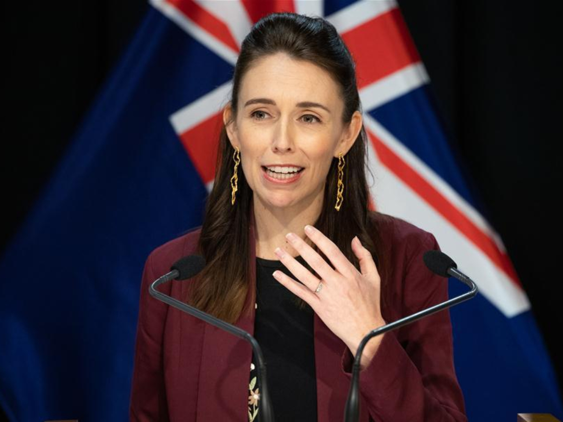 New Zealand's PM speaks at press conference in Wellington