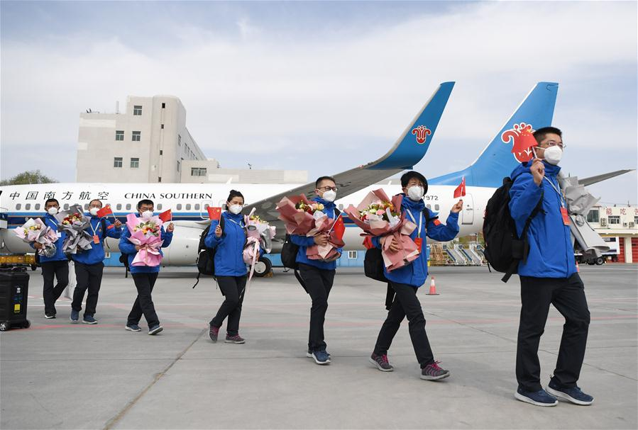 Chinese medical team returns after helping Kyrgyzstan with battle against COVID-19