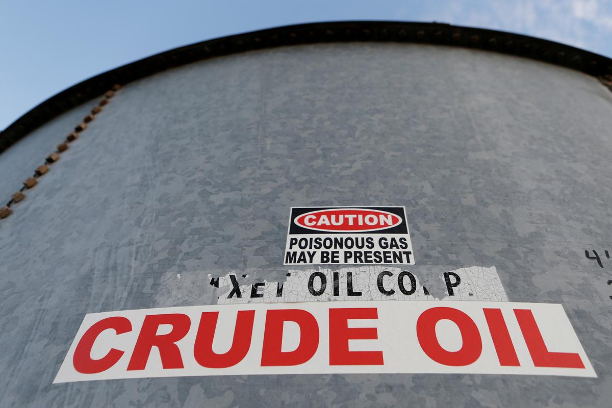 WTI crude futures plunge nearly 25 pct