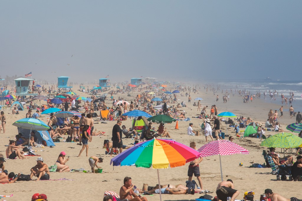 California governor admonishes weekend crowds who flocked to beaches